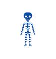 skeletone line icon concept skeletone flat vector image vector image