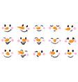 snowman cartoon faces funny faces vector image
