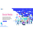 social media horizontal banner with copy space vector image vector image