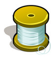 spool of polymeric tape or thread isolated on vector image