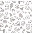 sports equipment seamless pattern basketball vector image