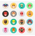 Super hero masks for face character Superhero vector image vector image