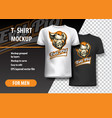 t-shirt template fully editable with evil pig vector image vector image
