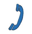 telephone call service center symbol vector image vector image