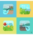 Urban and village landscape Ecology environment vector image vector image