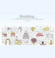 wedding advertising flat line art vector image