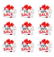 white sale present2 vector image vector image