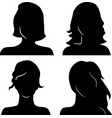 women heads silhouettes vector image vector image