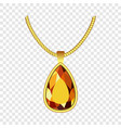 yellow topaz jewelry icon realistic style vector image vector image