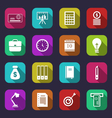 business and financial items colorful flat icons vector image