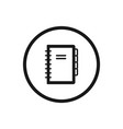 notebook line icon on a white background vector image