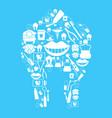 dental background vector image