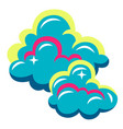 abstract stylized clouds or smoke vector image