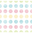 Abstract textile polka dots stripes seamless vector image vector image