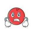 angry bowling ball character cartoon vector image vector image