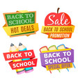 back to school banners isolated on white vector image vector image