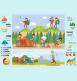 backpacking and hiking brochure vector image vector image