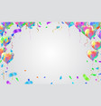 balloon banner template abstract colorful vector image vector image