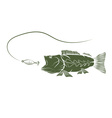 bass and lure design template vector image vector image