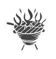 bbq party grill glyph icon vector image vector image