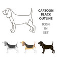 beagle icon in cartoon style for web vector image vector image