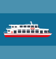 big white passangers liner for cruise isolated vector image vector image