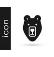 black bear head icon isolated on white background vector image vector image