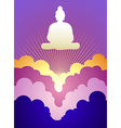 Buddha at sunrise vector image