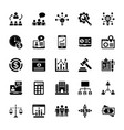 business services glyph icons vector image vector image