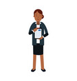 businesswoman cartoon character in elegant vector image