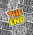 cartoon comic text the end vector image vector image