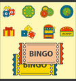 casino game icons poker gambler symbols blackjack vector image vector image