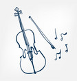 cello sketch isolated design vector image vector image
