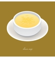 cheese soup vector image vector image