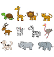 Collection of animals vector image vector image