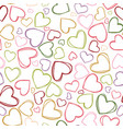 colorful heart outlines repeat pattern vector image