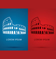 colosseum building vector image vector image