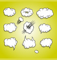 comic book cartoon cloud balloon set vector image vector image