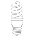 Contour energy saving lamp vector image vector image