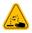 corrosive sign vector image vector image