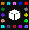 cube icon sign Lots of colorful symbols for your vector image