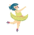 Cute little ballerina in beautiful dress vector image