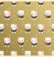 cute polar bear christmas seamless pattern theme vector image vector image