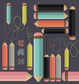decorative seamless pattern with colorful pencils vector image