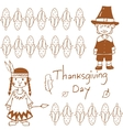 Doodle of Thanksgiving day corn vector image vector image