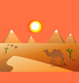 egyptian great pyramids vector image vector image