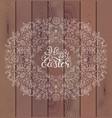 floral easter frame vector image vector image