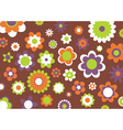 flowers abstract pattern vector image