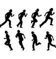 girl running silhouettes vector image vector image