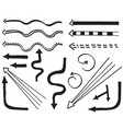hand drawn arrows with doodle style isolated vector image